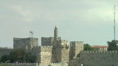 Tower of David - Zoom out 3 Stock Footage