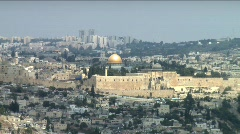 Jerusalem Landscape 2 - zoom out - stock footage