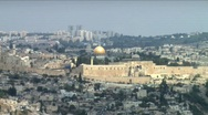Stock Video Footage of Jerusalem Landscape 2 - zoom out