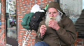 Homeless Veteran HD Footage