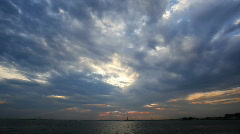 Cloudlapse over water - stock footage