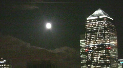 London Canary Wharf Stock Footage