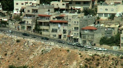 Pan shot of a road in an arab village Stock Footage
