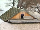 Flooded House - Montage Stock Footage
