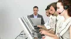 Business call Centre Stock Footage