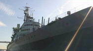 Stock Video Footage of Warship
