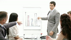 Assertive manager giving a presentation - stock footage
