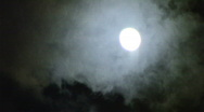 Stock Video Footage of Cloudy Night with the Moon