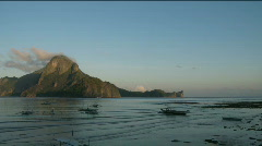 Sunrise in Philippines village - stock footage