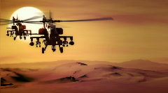 AH-64 Apache SUNSET Stock Footage