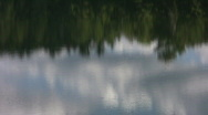 Tree & sky reflections in water. Stock Footage