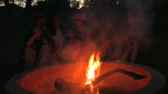 Campfire Ghost Stories Stock Footage