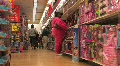 Heavyset Woman in Store Footage