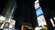 Stock Video Footage of New York Times Square at Night