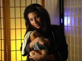 Stock Video Footage of Beautiful Young Woman with a Teddy Bear 4 (close-up)