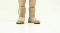 Boots and heels - 10 - soft boots attention stance  Stock Footage