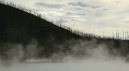 Hot Thermal Pool in Yellowstone National Park  Stock Footage