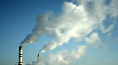 Сhimney in Moscow with smoke coming out, HD - stock footage