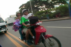 Philippines family bike 01 Stock Footage