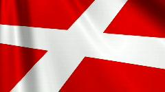 Denmark Flag Loop 03 Stock Footage