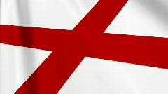 England Flag Loop 03 Stock Footage