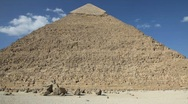 Stock Video Footage of Great Pyramid with People in Background - Time Lapse