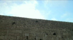 Holly western wall - time lapse Stock Footage