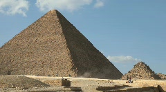 Great Pyramid in Giza Egypt with Tourists in Background Stock Footage