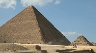 Stock Video Footage of Great Pyramid in Giza Egypt with Tourists in Background