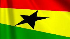 Ghana Flag Loop 03 Stock Footage