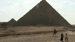 Great Pyramid in Giza Egypt with Tourists Stock Footage