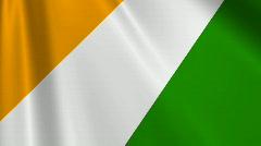Ivory Coast Flag Loop 03 Stock Footage