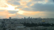 Stock Video Footage of Jerusalem skyline at sunset - Time lapse