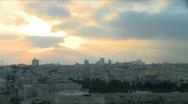 Jerusalem skyline at sunset - Time lapse Stock Footage