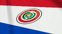Paraguay Flag Loop 03 Stock Footage
