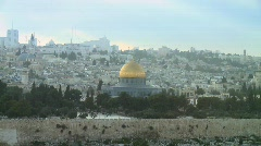Temple Mount fix frame Stock Footage