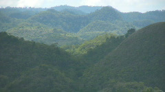 Chocolate hills on Bohol island in the Philippines Stock Footage