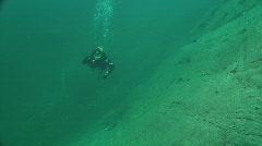 underwater lake - stock footage
