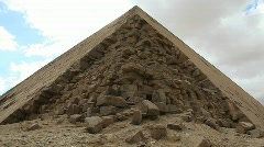 Pyramid in Giza Egypt with Loose Stones - Time Lapse - stock footage