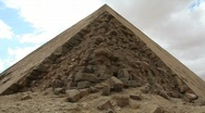 Stock Video Footage of Pyramid in Giza Egypt with Loose Stones - Time Lapse