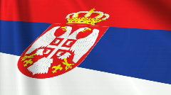 Serbia Flag Loop 03 Stock Footage