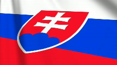 Slovakia Flag Loop 03 Stock Footage