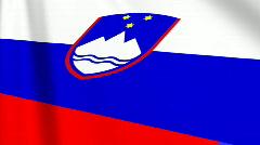 Slovenian Flag Loop 03 Stock Footage