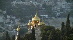 The Church of Mary Magdalene to Temple mount Stock Footage