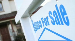 House For Sale Sign SEQUENCE - stock footage