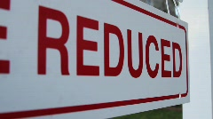 Home price reduced Stock Footage