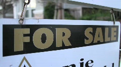 House 4 Sale Sign Stock Footage