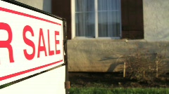 For Sale Sign Home Sale - stock footage