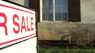 For Sale Sign Home Sale Stock Footage