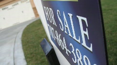 For Sale Sign of House Stock Footage